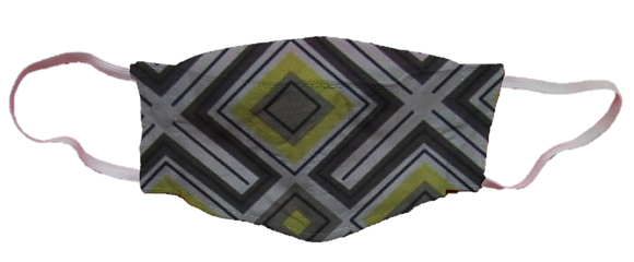 Máscara 3D - Geométrico Amarelo