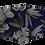 Thumbnail: Máscara 3D - Rosas Azuis