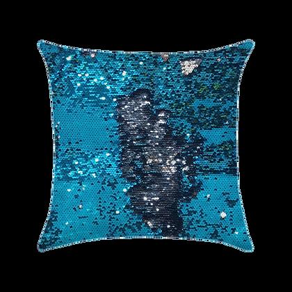 Capa de almofada Extravaganza - Azul / Prata