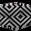 Thumbnail: Máscara 3D - Geométrico Preto e Branco