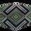 Thumbnail: Máscara 3D - Geométrico Verde
