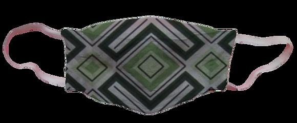 Máscara 3D - Geométrico Verde