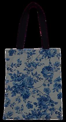 Bolsa Dupla Face - Flores Azuis