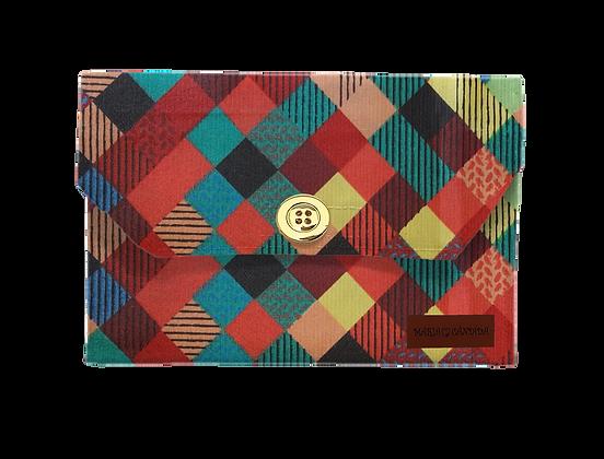 Porta Máscara P - Quadrados Coloridos