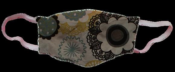 Máscara 3D - Mandala Cinza