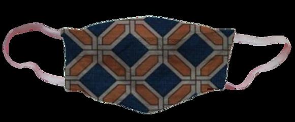 Máscara 3D - Geométrico Laranja