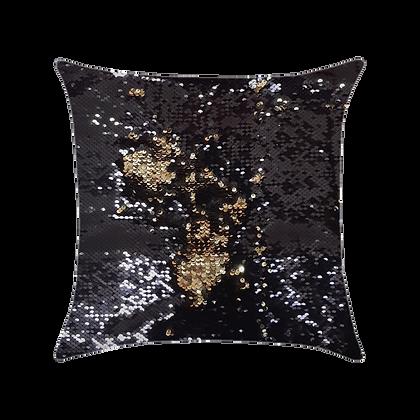 Capa de almofada Extravaganza - Preto / Dourado