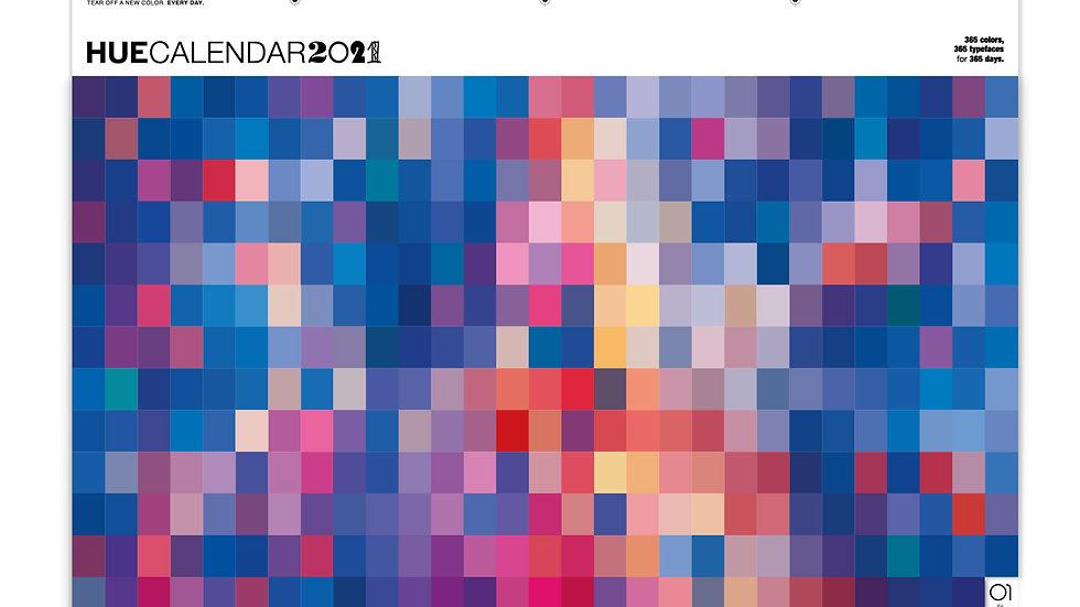 HueCalendar 2021 - Blue
