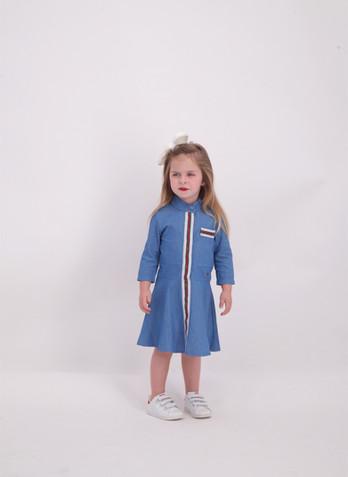 שמלה גינס malaya   מאליה אופנת ילדים