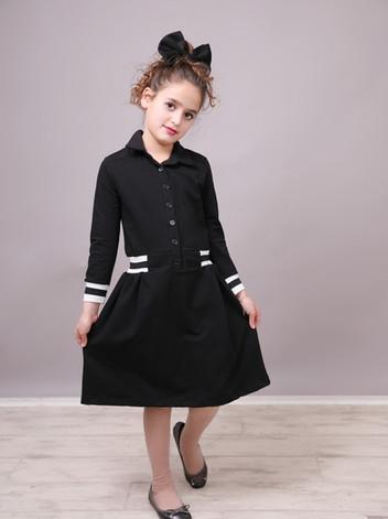 שמלה שחר malaya   מאליה אופנת ילדים