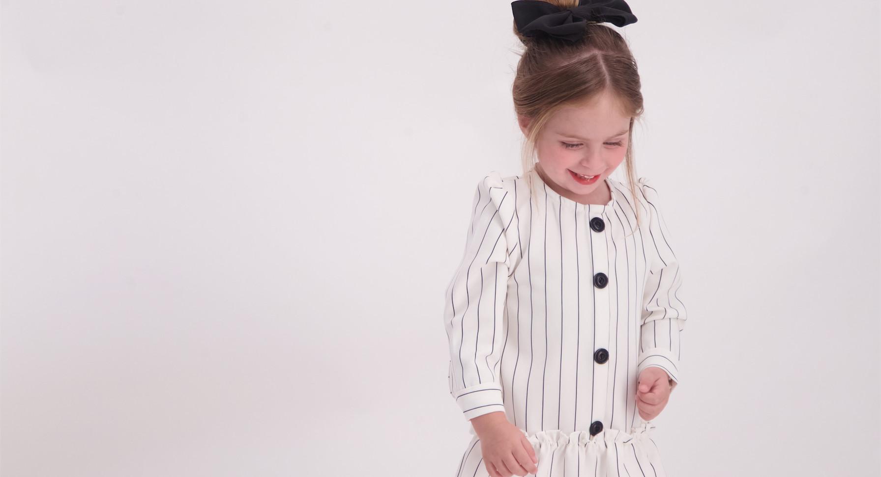 שמלת פסים malaya | מאליה אופנת ילדים