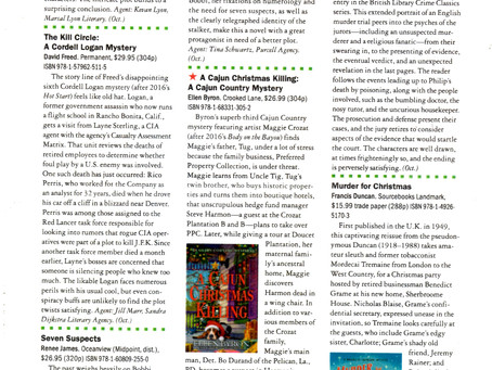 Publishers Weekly Starred Review!