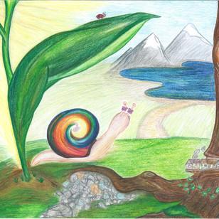 Es war einmal eine kleine Schnecke namens Olivia.                                                                                     Olivia war eine Abenteurerin und Entdeckerin. Sie liebte es morgens aufzuwachen, in die Welt zu blicken und sich voller Vorfreude vorzustellen, welche wunderbaren Abenteuer ihr der Tag  wohl bringen werde.
