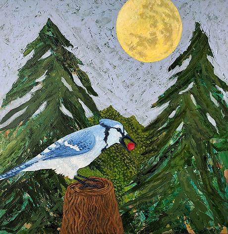 Sally_Brophy_BlueJayBerryMoon_acrylic_12