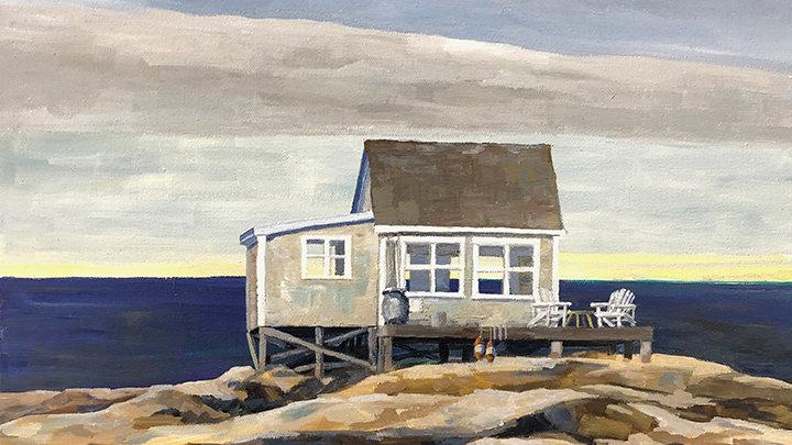 Judy Graebert, Island Retreat off Jonesport, Acrylic, 20x16