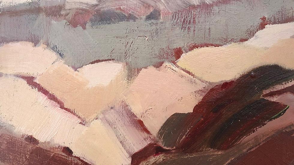Betty Schopmeyer, Fields, oil, 5x5