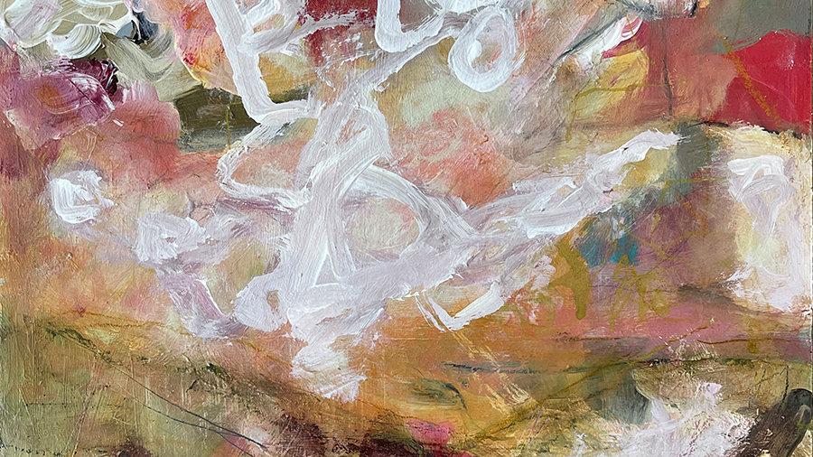 Marli Thibodeau, Warm Seas, acrylic, 12x12