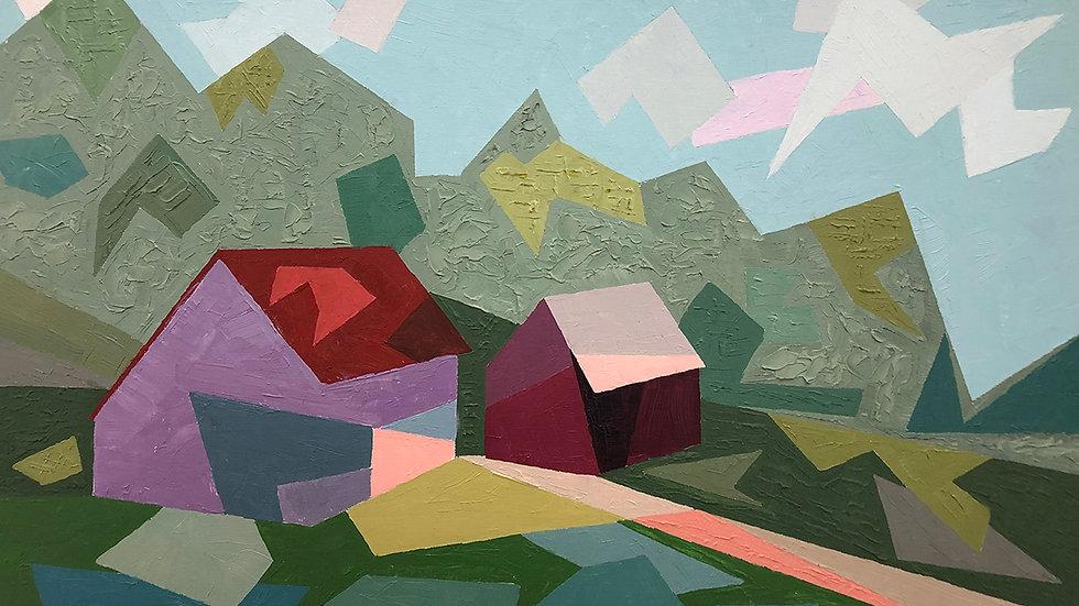 Debbie MItchell, Last Year's Sun, oil, 12x16