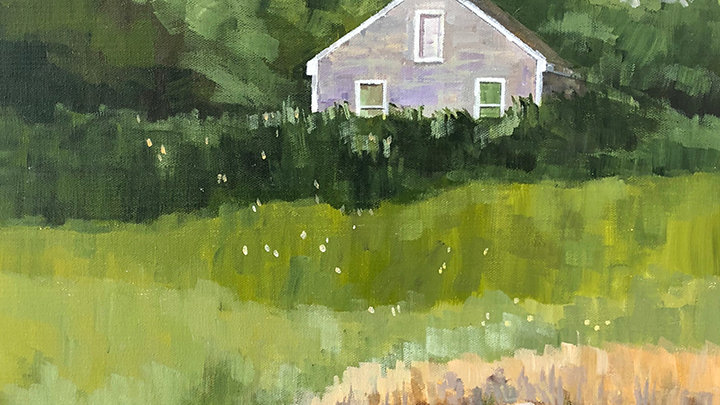 Judy Graebert, Barn on the Bagaduce River, acrylic, 20x16