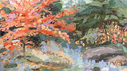 Suzanne G. Roberts, Forest Brilliance 2, gouche, 8x8