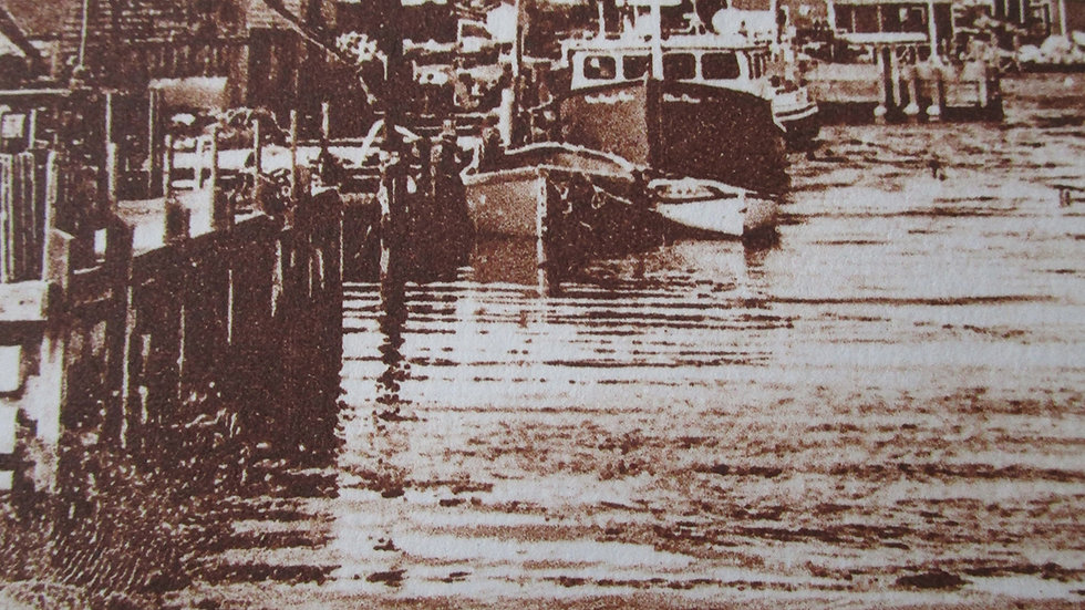 Sandi Cirillo, Harbor Scene, solarplate etching, 8x10 (frame size)