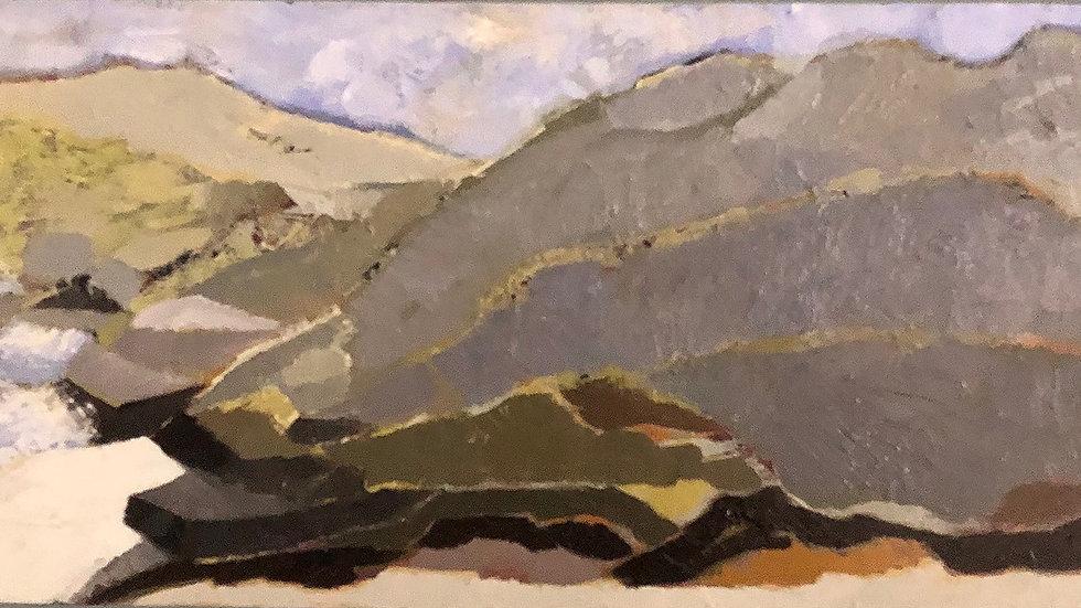 Betty Schopmeyer, Wild Hills, oil, 6x12