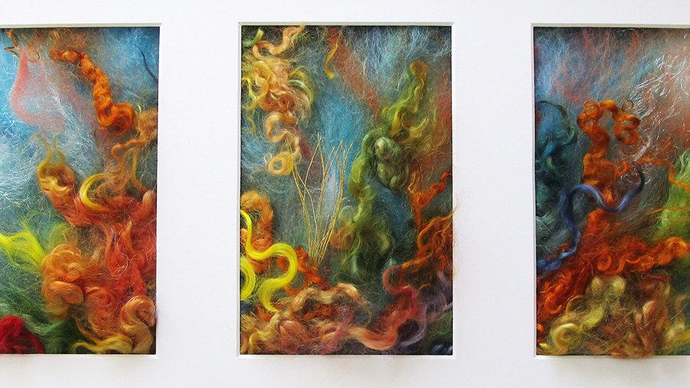 Sandi Cirillo, Coral Reef, mixed, 10x20 (frame size)