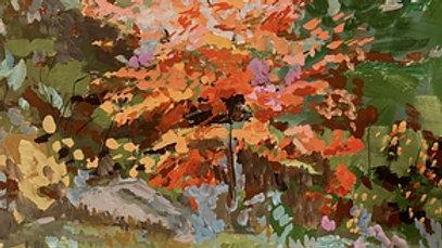 Suzanne G. Roberts, Forest Brilliance 1, gouche, 8x8