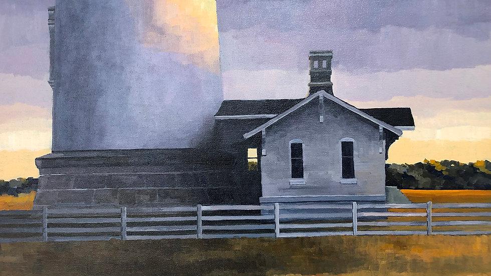 Judy Graebert, Bodie Lightkeeper House 3, acrylic, 18x24
