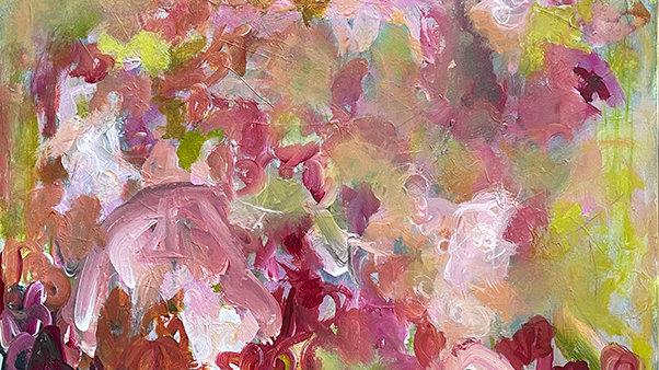 Marli Thibodeau, Lush II, acrylic, 36x24