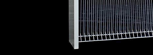 Custom Iodised Aluminium Frame and Galvanised Grids