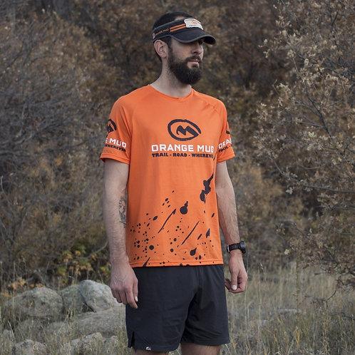Stretchy Running Shirt - Green, Black, Gray and Orange