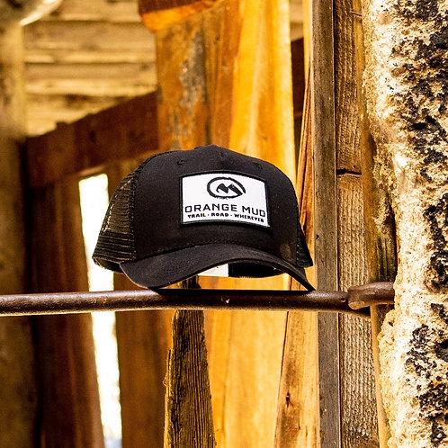 Orange Mud - 5 Panel Black Trucker Hat