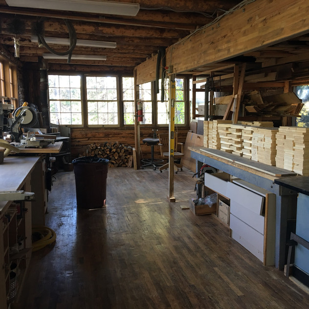 Inside the Mountain Research Station woodshop