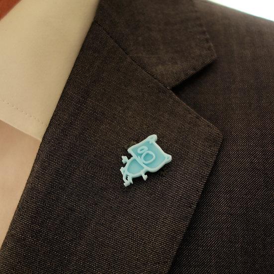 Doodled Pin Badge