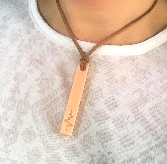 Heartbeat Cord Necklace