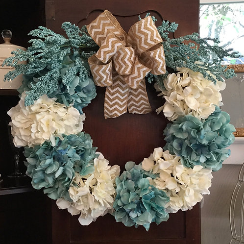 COTTAGE BLUE WREATH