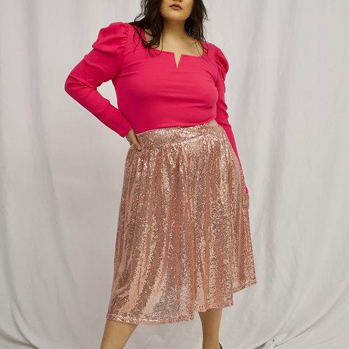 Gabrielle Sequin Midi Skirt