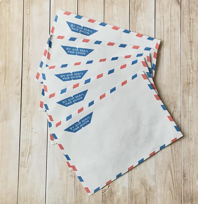 Vintage Envelope - Snail Mail Envelope - Old School Letter