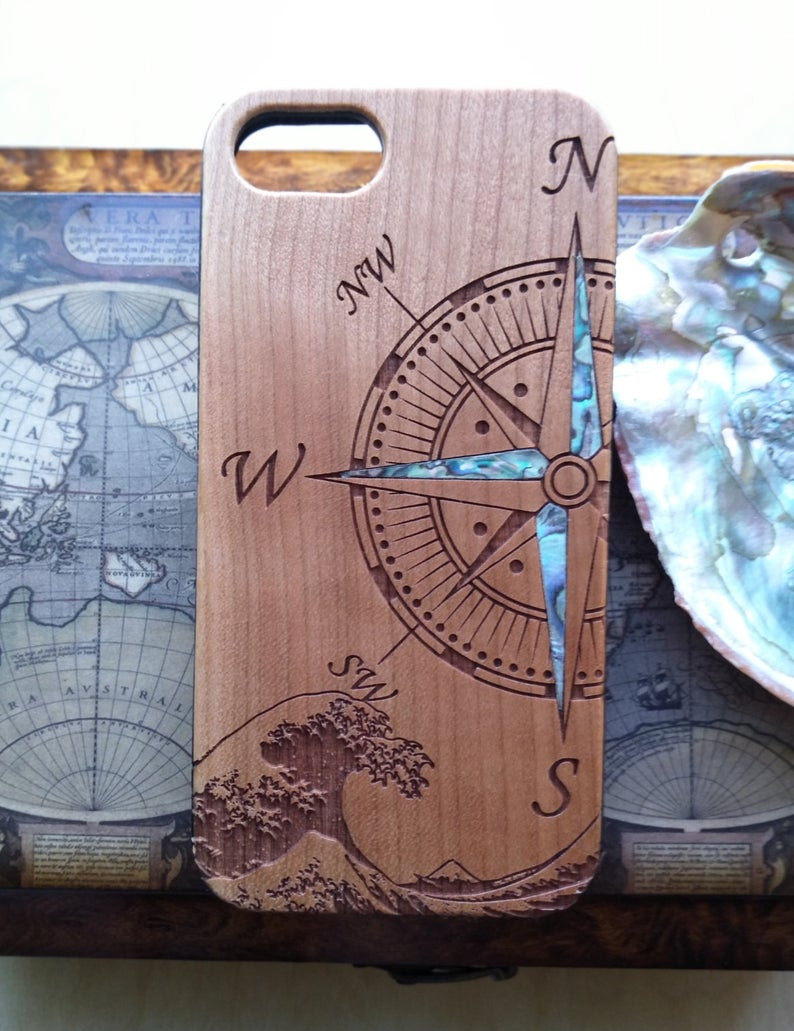 Wooden iPhone case, Unique iPhone Case, Cherry iPhone Case