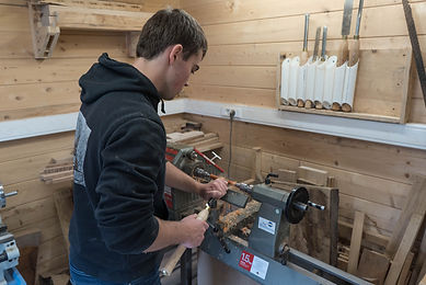 Woodturning - Young Wood turner