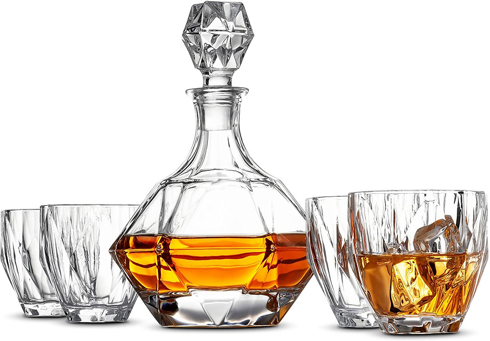 Luxury Whiskey Decanter Set - Unique Bourbon Set