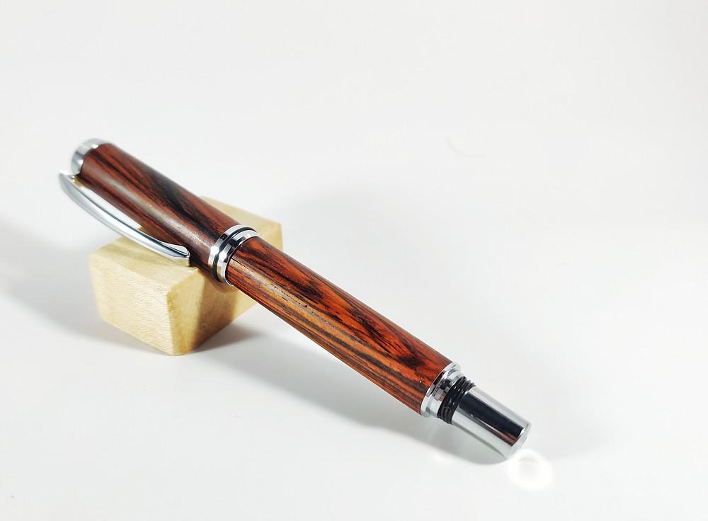 Handmade Wooden Fountain Pen - Cocobolo Fountain Pen - Snail Mail Fountain Pen