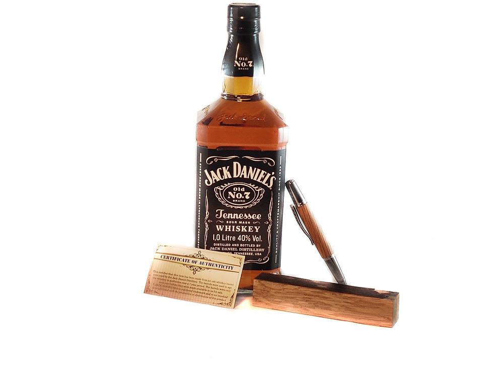 Wooden Whiskey Pen - Luxury Jack Daniels Pen - Scotch Pen