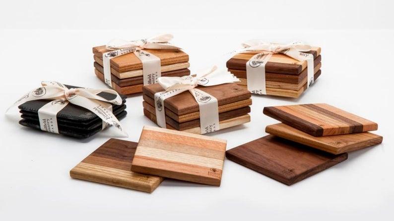 Wooden Coasters, Reclaimed Coasters, Handmade Coasters