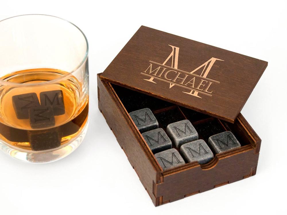 Personalized Whiskey Rocks - Engraved Whiskey Stones