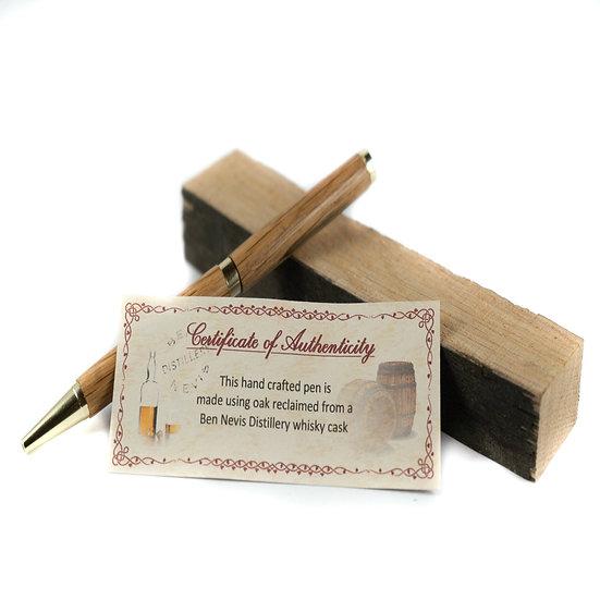 Handmade Whiskey Barrel Writing Pen