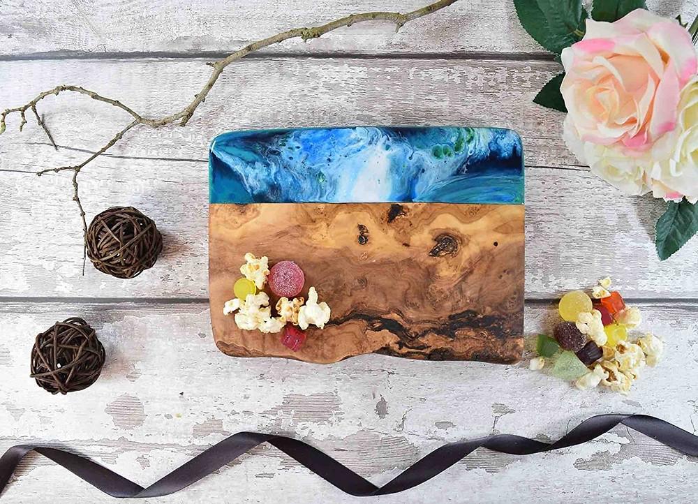 Handmade Wooden Cutting Board, Olive Cutting Board