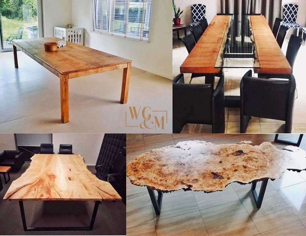 Handmade Wooden Table - Live Edge Table - Dinner Table - Unique Furniture
