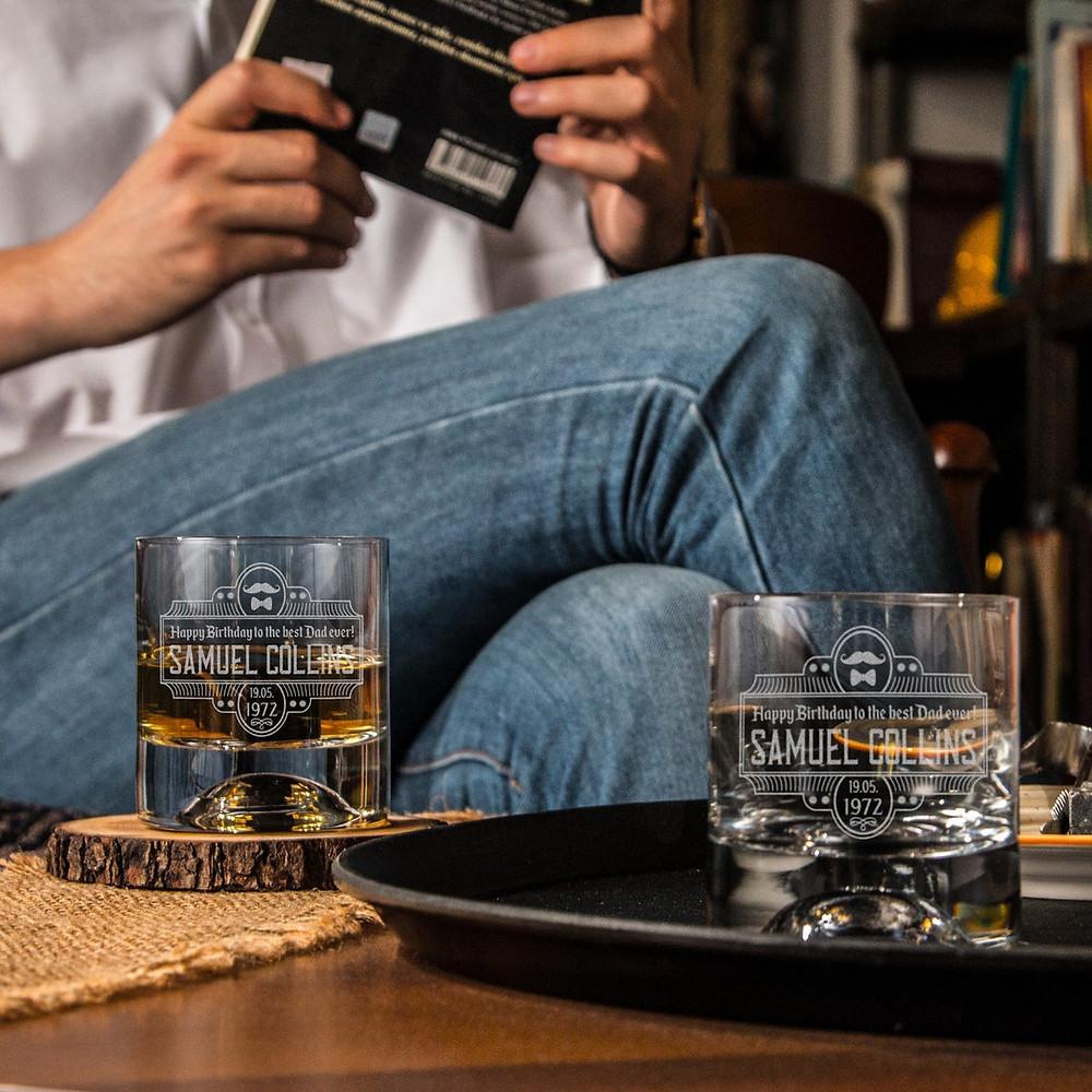 Personalized Whiskey Glasses - Custom Scotch Glass